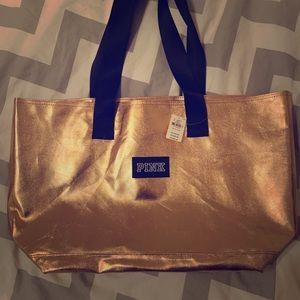 VS Pink Bag New Gold Color